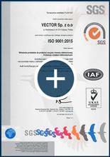 Certyfikat systemu zarządzania jakością ISO 9001:2015, plik pdf dopobrania